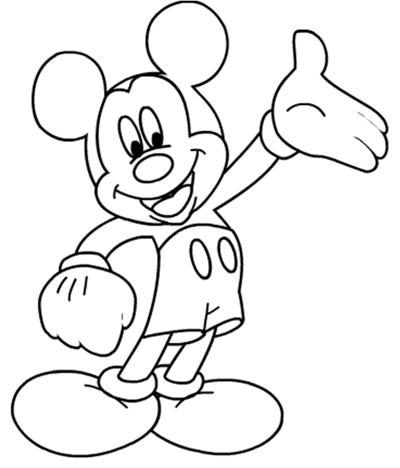 Mewarnai Mickey Mouse Serba Serbi Dunia Maya